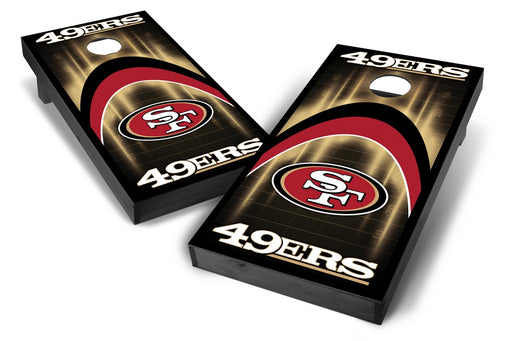 San Francisco 49ers 2x4 Cornhole Board Set Onyx Stained - Arch