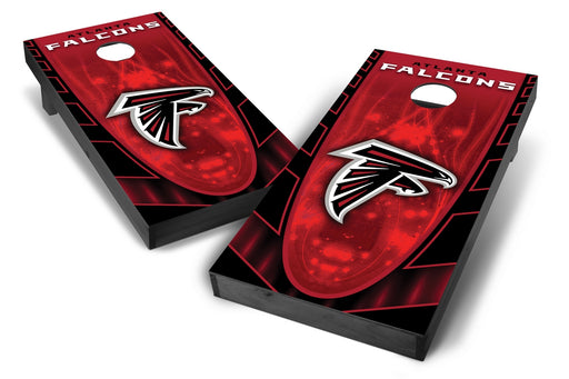 Atlanta Falcons 2x4 Cornhole Board Set Onyx Stained - Hot