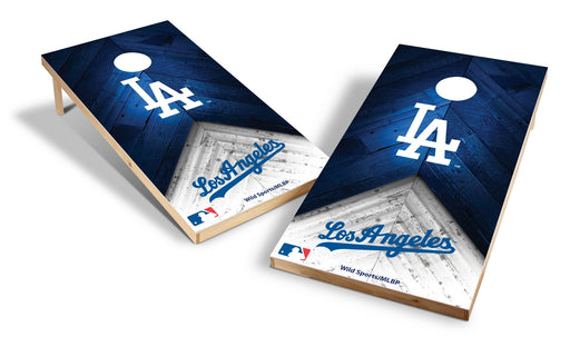 Los Angeles Dodgers 2x4 Cornhole Board Set - Weathered