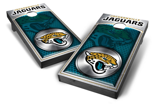 Jacksonville Jaguars 2x4 Cornhole Board Set Onyx Stained - Medallion