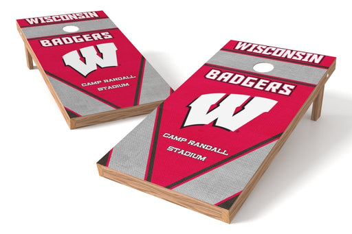 Wisconsin Badgers 2x4 Cornhole Board Set - Burlap