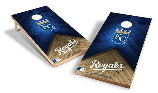 Kansas City Royals 2x4 Cornhole Board Set - Weathered