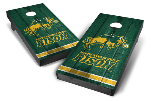 North Dakota State Bison 2x4 Cornhole Board Set Onyx Stained - Vintage