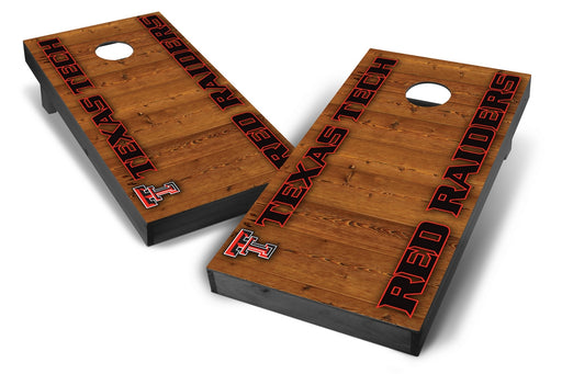 Texas Tech Red Raiders 2x4 Cornhole Board Set Onyx Stained - Vertical