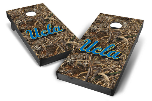 UCLA Bruins 2x4 Cornhole Board Set Onyx Stained - Realtree Max-5 Camo