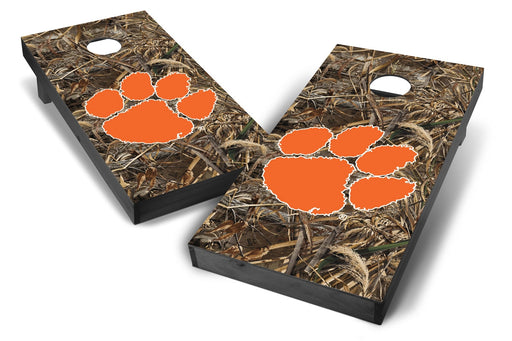 Clemson Tigers 2x4 Cornhole Board Set Onyx Stained - Realtree Max-5 Camo