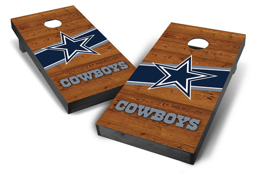 Dallas Cowboys 2x4 Cornhole Board Set Onyx Stained - Logo