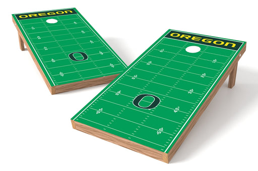 Oregon Ducks 2x4 Cornhole Board Set - Field