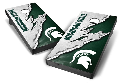 Michigan State Spartans 2x4 Cornhole Board Set Onyx Stained -  Ripped