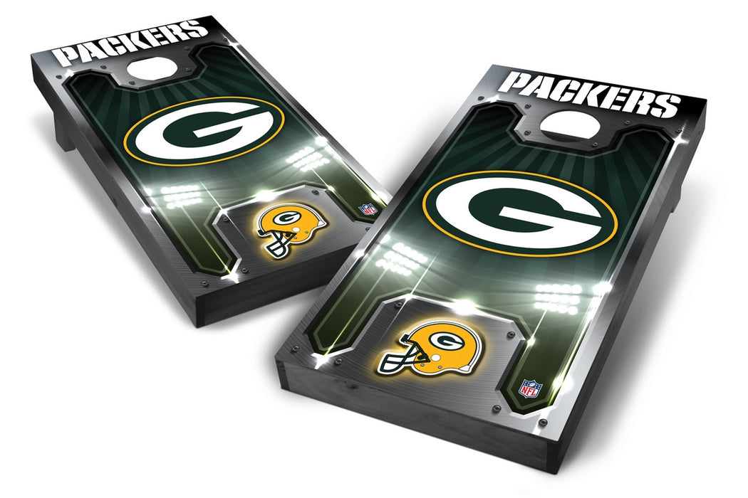 Green Bay Packers 2x4 Cornhole Board Set Onyx Stained - Plate