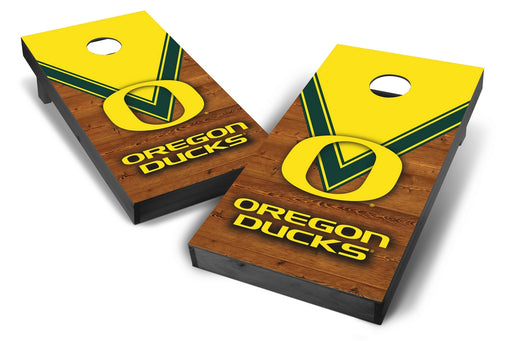 Oregon Ducks 2x4 Cornhole Board Set Onyx Stained - Uniform