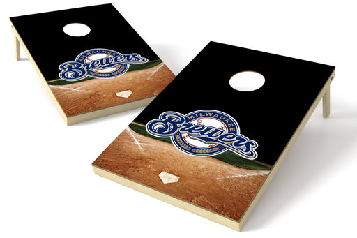 Milwaukee Brewers 2x3 Cornhole Board Set - Home Plate