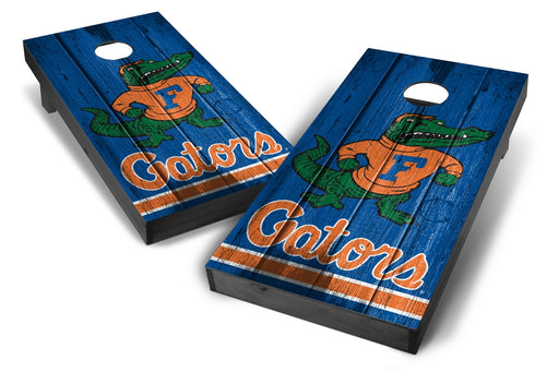 Florida Gators 2x4 Cornhole Board Set Onyx Stained - Vintage