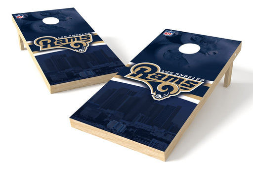 Los Angeles Rams 2x4 Cornhole Board Set - Logo