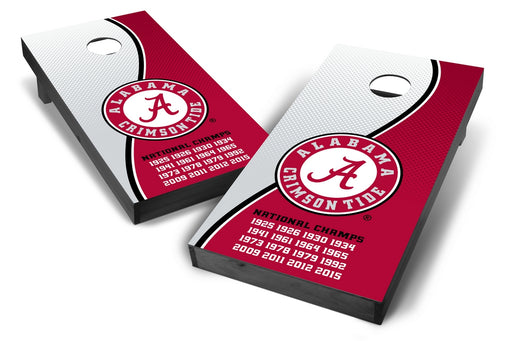 Alabama Crimson Tide 2x4 Cornhole Board Set Onyx Stained - Champions