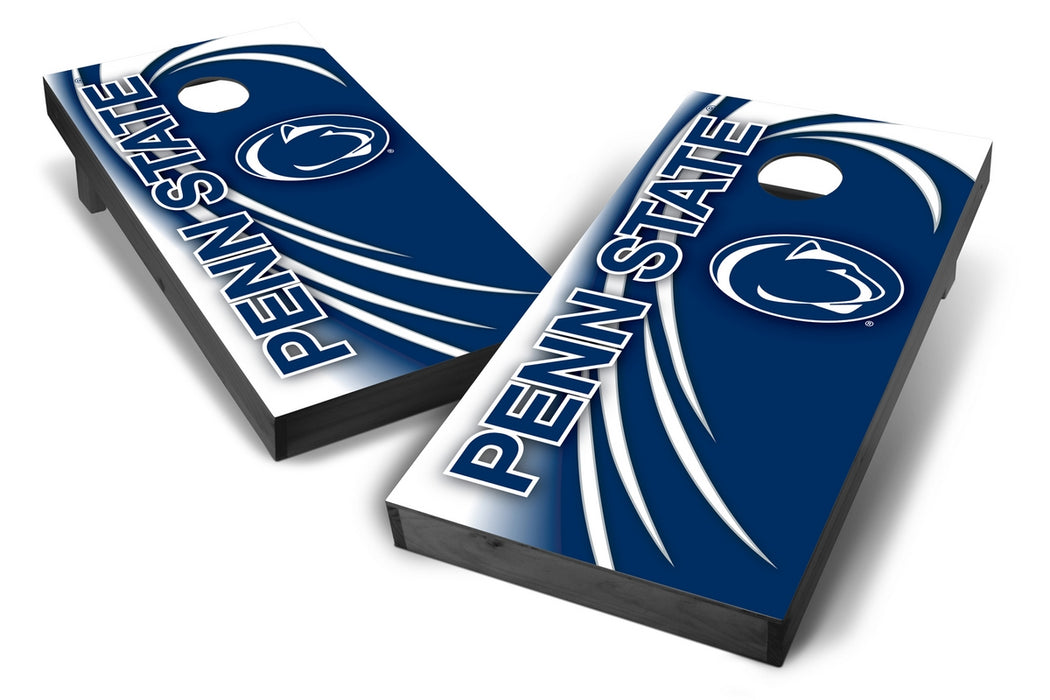 Penn State Nittany Lions 2x4 Cornhole Board Set Onyx Stained - Spiral