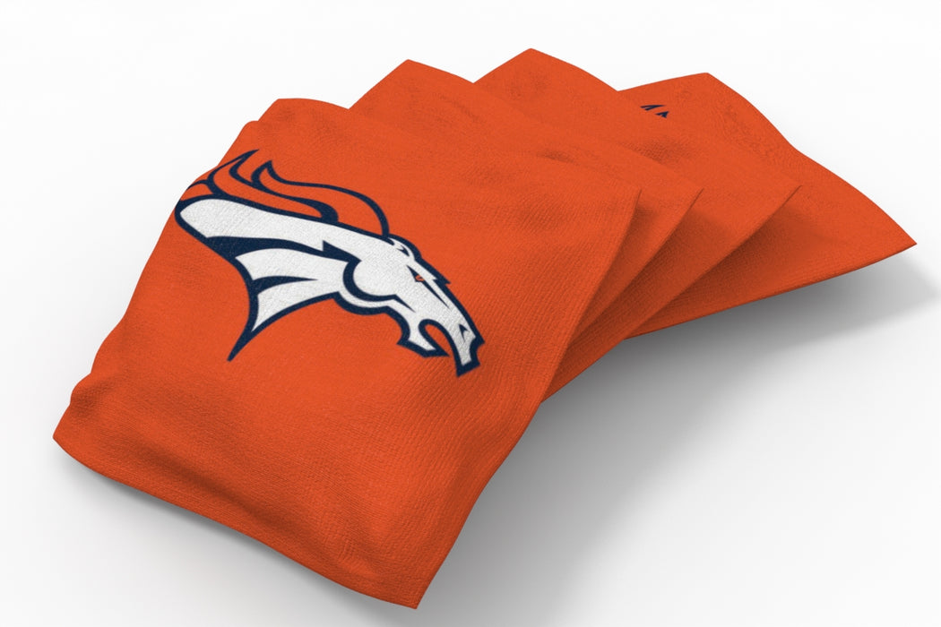 Denver Broncos 2x4 Cornhole Board Set Onyx Stained - Hot
