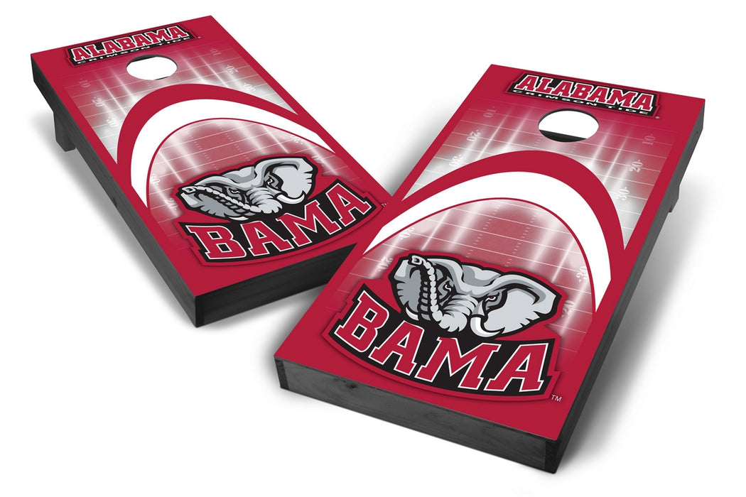 Alabama Crimson Tide 2x4 Cornhole Board Set Onyx Stained - Arch