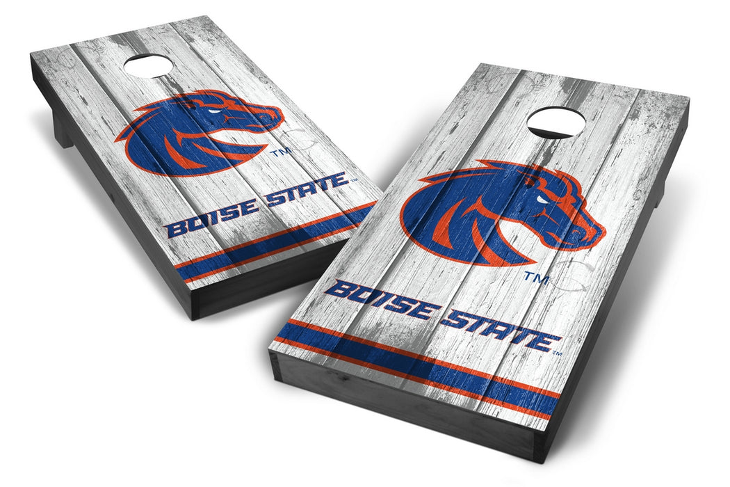 Boise State Broncos 2x4 Cornhole Board Set Onyx Stained - Vintage