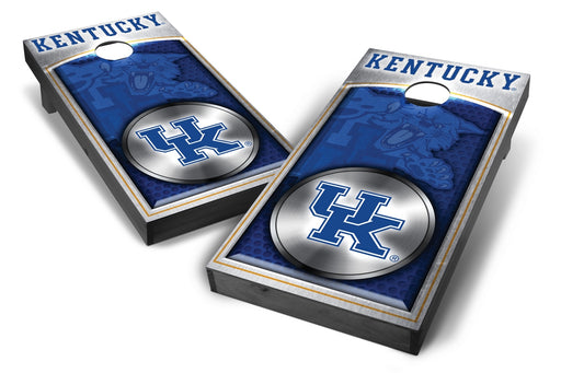 Kentucky Wildcats 2x4 Cornhole Board Set Onyx Stained - Medallion