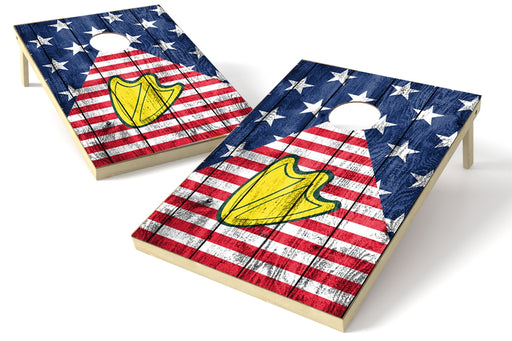 Oregon Ducks 2x3 Cornhole Board Set - American Flag