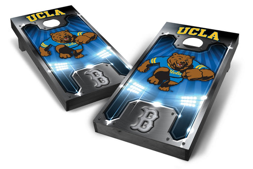 UCLA Bruins 2x4 Cornhole Board Set Onyx Stained - Plate