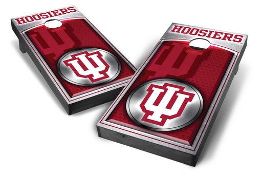 Indiana Hoosiers 2x4 Cornhole Board Set Onyx Stained - Medallion