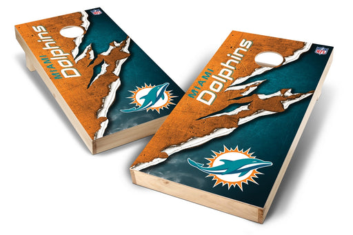 Miami Dolphins 2x4 Cornhole Board Set - Ripped