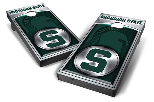Michigan State Spartans 2x4 Cornhole Board Set Onyx Stained - Medallion