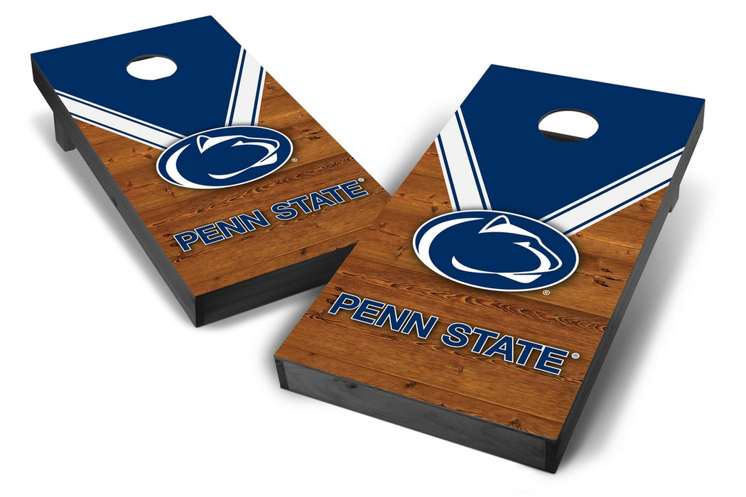 Penn State Nittany Lions 2x4 Cornhole Board Set Onyx Stained - Uniform