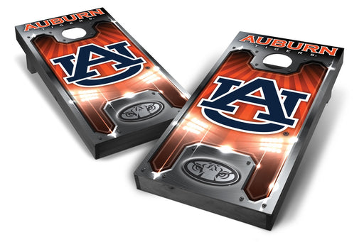 Auburn Tigers 2x4 Cornhole Board Set Onyx Stained - Plate
