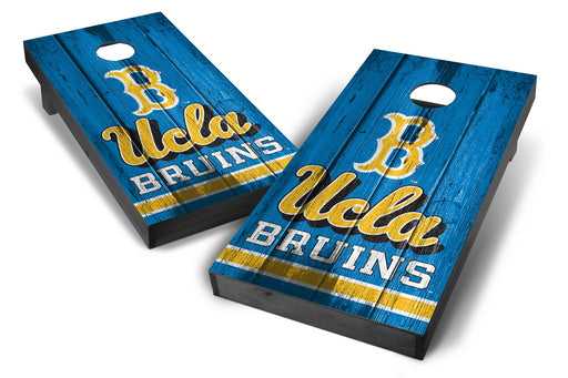 UCLA Bruins 2x4 Cornhole Board Set Onyx Stained - Vintage