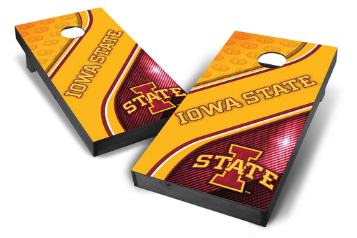 Iowa State Cyclones 2x4 Cornhole Board Set Onyx Stained - Swirl