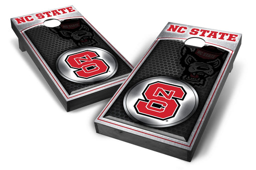 NC State Wolfpack 2x4 Cornhole Board Set Onyx Stained - Medallion
