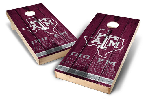 Texas A&M Aggies 2x4 Cornhole Board Set - Vintage