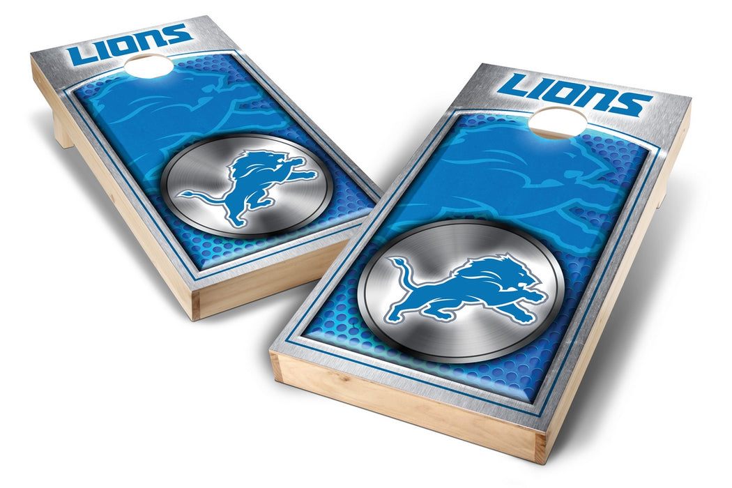 Detroit Lions 2x4 Cornhole Board Set - Medallion