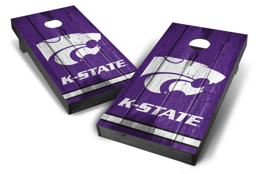 Kansas State Wildcats 2x4 Cornhole Board Set Onyx Stained - Vintage