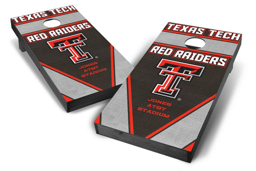 Texas Tech Red Raiders 2x4 Cornhole Board Set Onyx Stained - Burlap