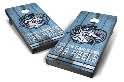 North Carolina Tar Heels 2x4 Cornhole Board Set Onyx Stained - Vintage