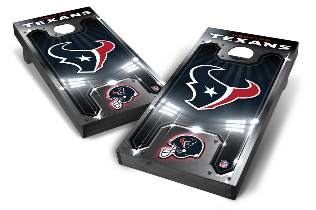 Houston Texans 2x4 Cornhole Board Set Onyx Stained - Plate