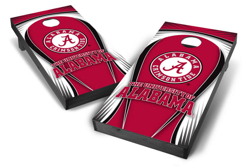 Alabama Crimson Tide 2x4 Cornhole Board Set Onyx Stained - Drop