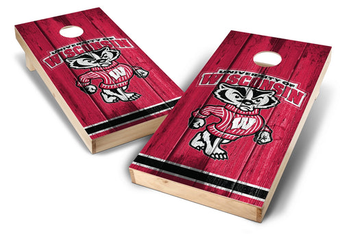 Wisconsin Badgers 2x4 Cornhole Board Set - Vintage