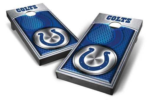 Indianapolis Colts 2x4 Cornhole Board Set Onyx Stained - Medallion