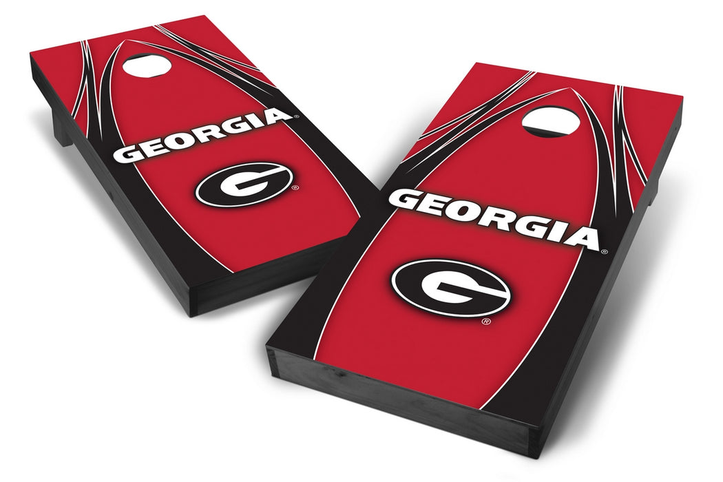 Georgia Bulldogs 2x4 Cornhole Board Set Onyx Stained - Edge