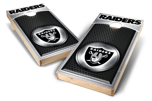 Oakland Raiders 2x4 Cornhole Board Set - Medallion