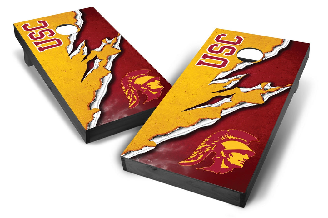 USC Trojans 2x4 Cornhole Board Set Onyx Stained -  Ripped