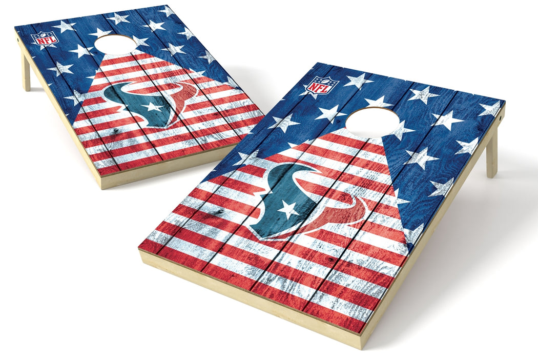 Houston Texans 2x3 Cornhole Board Set - American Flag
