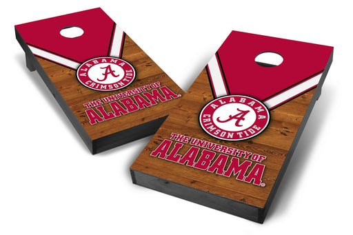 Alabama Crimson Tide 2x4 Cornhole Board Set Onyx Stained - Uniform