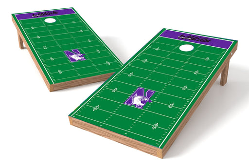 Northwestern Wildcats 2x4 Cornhole Board Set - Field