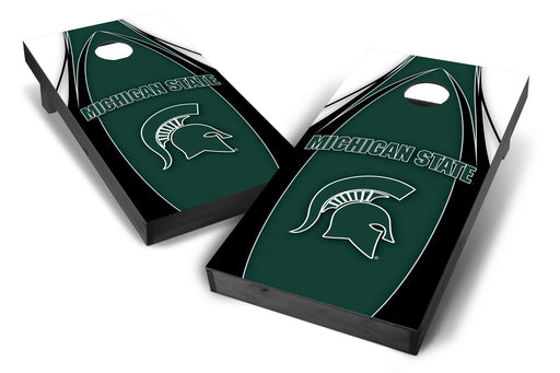 Michigan State Spartans 2x4 Cornhole Board Set Onyx Stained - Edge